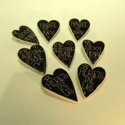 McGill Ceramic Heart Brooches