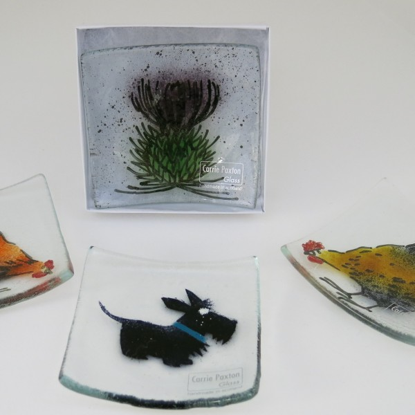 Paxton - Chicken, Scottie, Chicken, Thistle - small square