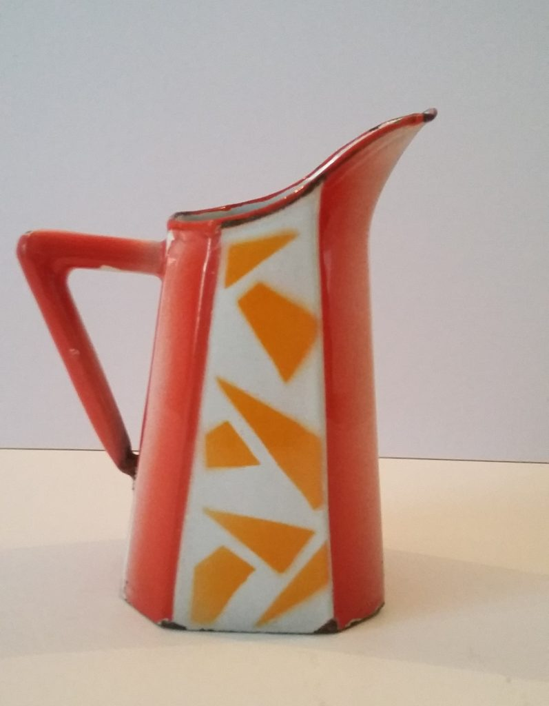 Abstract Enamel Jug