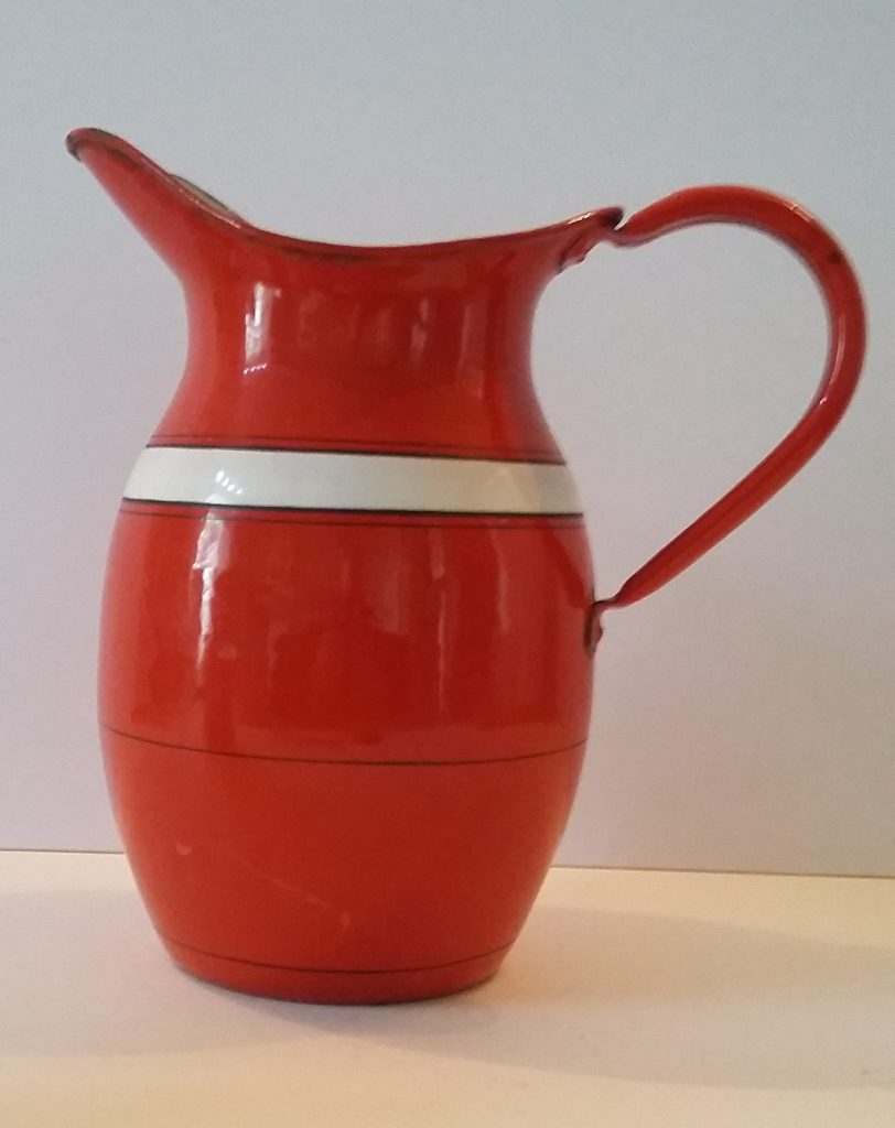 Red Enamel Jug